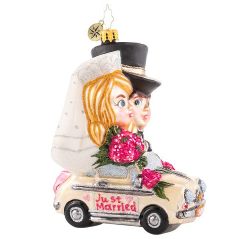 Christopher Radko Riding Merrily In Matrimony Wedding Ornament
