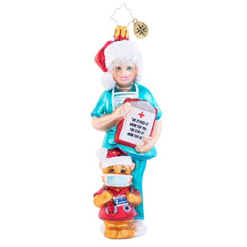 Christopher Radko Covid 19 Merry Medical Nurse Worker Ornament 2020