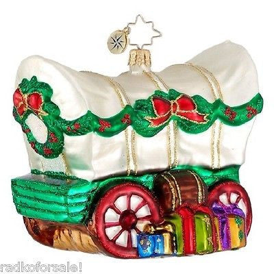 Radko GO WEST Western Stage Coach ornament NEW RETIRED
