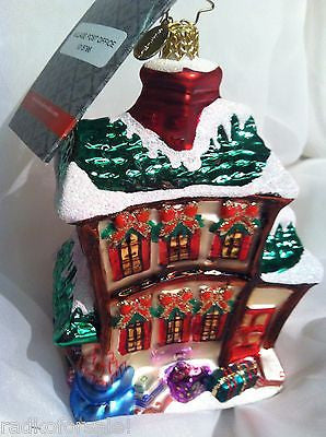 Radko Dickens Village TOY STORE 2011 ornament  New OOTM