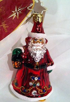 Radko LITTLE GEMS Scarlet Enchantment Santa Gem ornament NEW