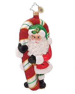 Radko PEPPERMINT CUTIE PIE Santa ornament NEW
