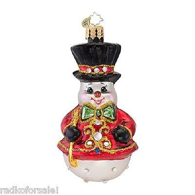 Radko Little Gems DRESSED TO CHILL Snowman ornament New