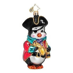 Radko AHOY MATEY PIRATE penguin ornament NEW
