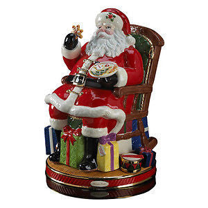 Radko MIDNIGHT TREATS SANTA COOKIE JAR New SALE