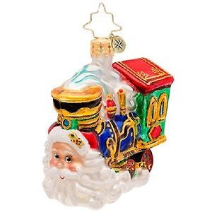 Radko LITTLE GEMS Choo Choo Claus train gem ornament NEW