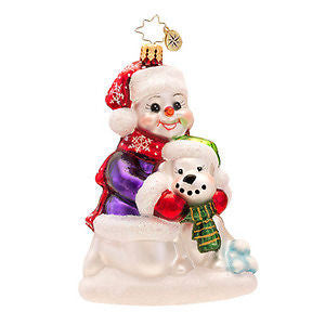 Radko BEST SNOW BUDDIES Dog Best Friend ornament NEW
