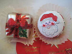C Radko PETIT FOUR CANDY CAKE ornament Set of 2 LE 300