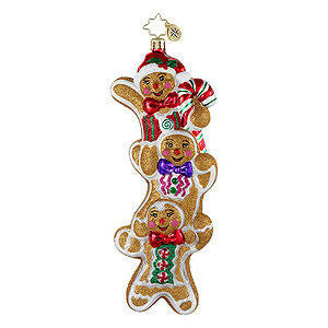 Radko THREE TIMES AS SWEET gingerbread ornament NEW Triplets!