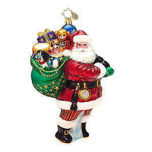 Radko FOR ALL GIRLS AND BOYS Santa ornament NEW