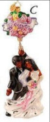 Christopher Radko Rosy Future Couple Wedding ornament 60% off