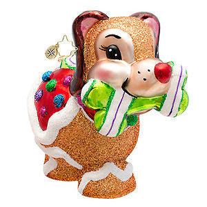 Radko SUGAR POOCH Gingerbread Puppy Dog ornament NEW