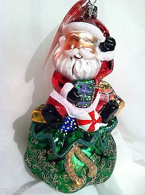 Radko RIDIN HIGH SANTA Claus Christmas ornament NEW