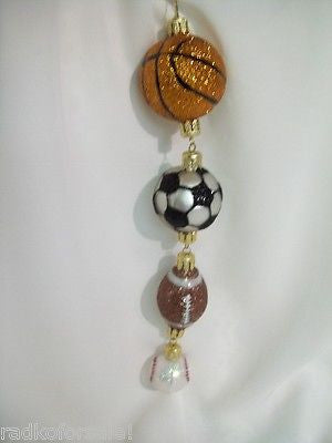 Radko Have a Ball All Sports Baseball Football Soccer ornament