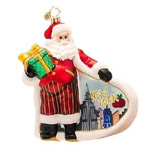 Radko CITY SCAPE New York Santa ornament NEW