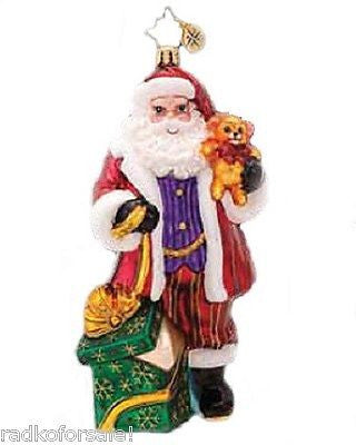 Radko MAGICALLY YOURS Santa Claus with Teddy Bear ornament NEW