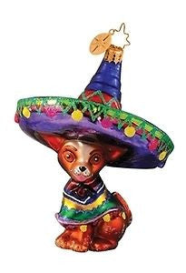 Christopher RADKO SOUTH OF THE BORDER Chihuahua Dog ornament