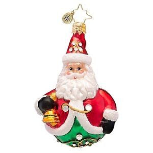 Christopher Radko LITTLE GEM Rolly Ringer Nick Santa ornament