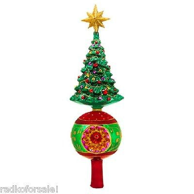Radko Finial GRAND TREE with reflector Tree Topper NEW Retired