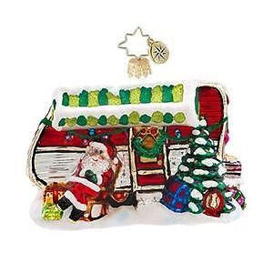 Radko HOLIDAY CAMPER Santa Camping ornament NEW