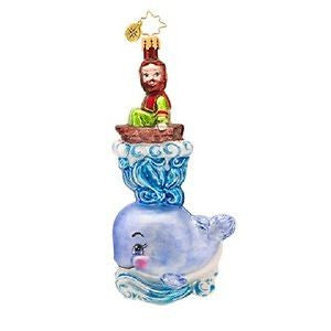 Radko WHALE OF A RIDE Jonah Bible ornament NEW