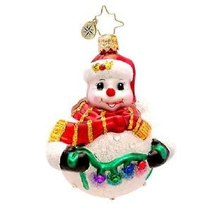 Radko LITTLE GEMS Tree Trim Frosty Snowman ornament NEW
