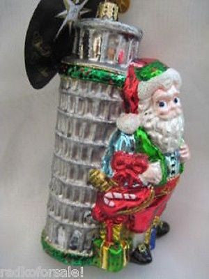 Radko SEASONS LEANINGS Tower of Pisa Italy ornament NEW Santa SALE