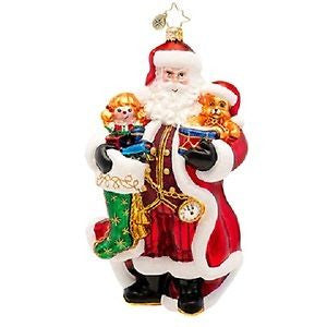 Radko A CHRISTMAS CLASSIC SANTA  ornament NEW