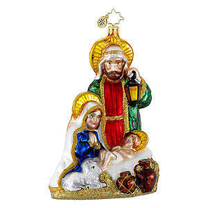 Radko HEAVENLY Holy FAMILY Nativity ornament NEW