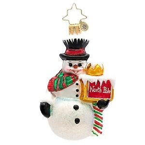 Radko LITTLE GEMS Nice up North snowman Gem ornament NEW