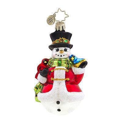 Radko LITTLE GEMS Winter's Trill Snowman GEM ornament NEW