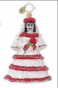 Radko DROP DEAD GORGEOUS Bride  Day of the Dead ornament