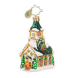 Radko Little Gems ALL ARE WELCOME Gem Church ornament NEW