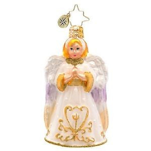 Radko LITTLE GEMS Golden Light Angel Gem ornament NEW