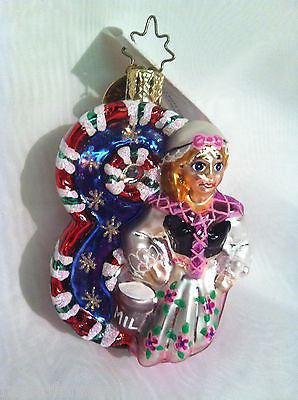 Radko Little Gems #8 Maids a Milking Ornament 12 Days of Christmas Candy 2001