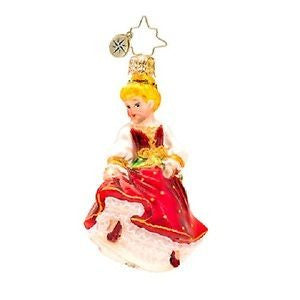 Radko 12 Days LITTLE GEMS #9 Dancing Maid gem ornament