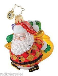 Christopher Radko HAPPY HARLEQUIN SANTA Gem ornament