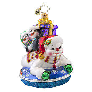 Radko SNOWDAY SNOW DAY kids Inner Tube ornament NEW