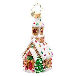 Christopher Radko LITTLE GEM Candied Cathedral Church ornament
