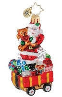 Christopher Radko Little Gem WELL STOCKED WAGON Santa ornament