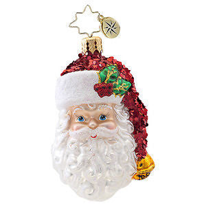 Christopher Radko WITH A SMILE Santa GEM ornament