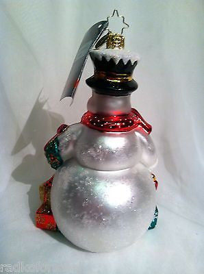 Radko FOR ONE AND ALL Snowman ornament New