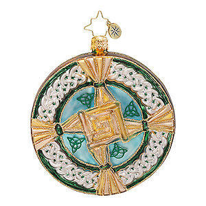 Radko St BRIGID'S BLESSINGS CROSS Celtic ornament NEW