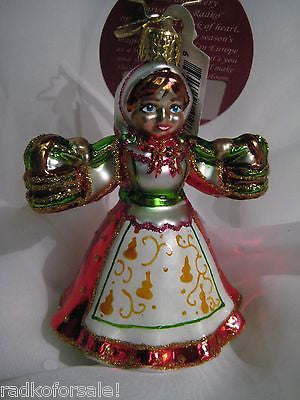 Radko 12 Days LITTLE GEMS #8 Maids a Milking ornament NEW