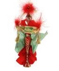 Christopher Radko  2000 Dated MISS CHRISTMAS Italian Feather Lady ornament