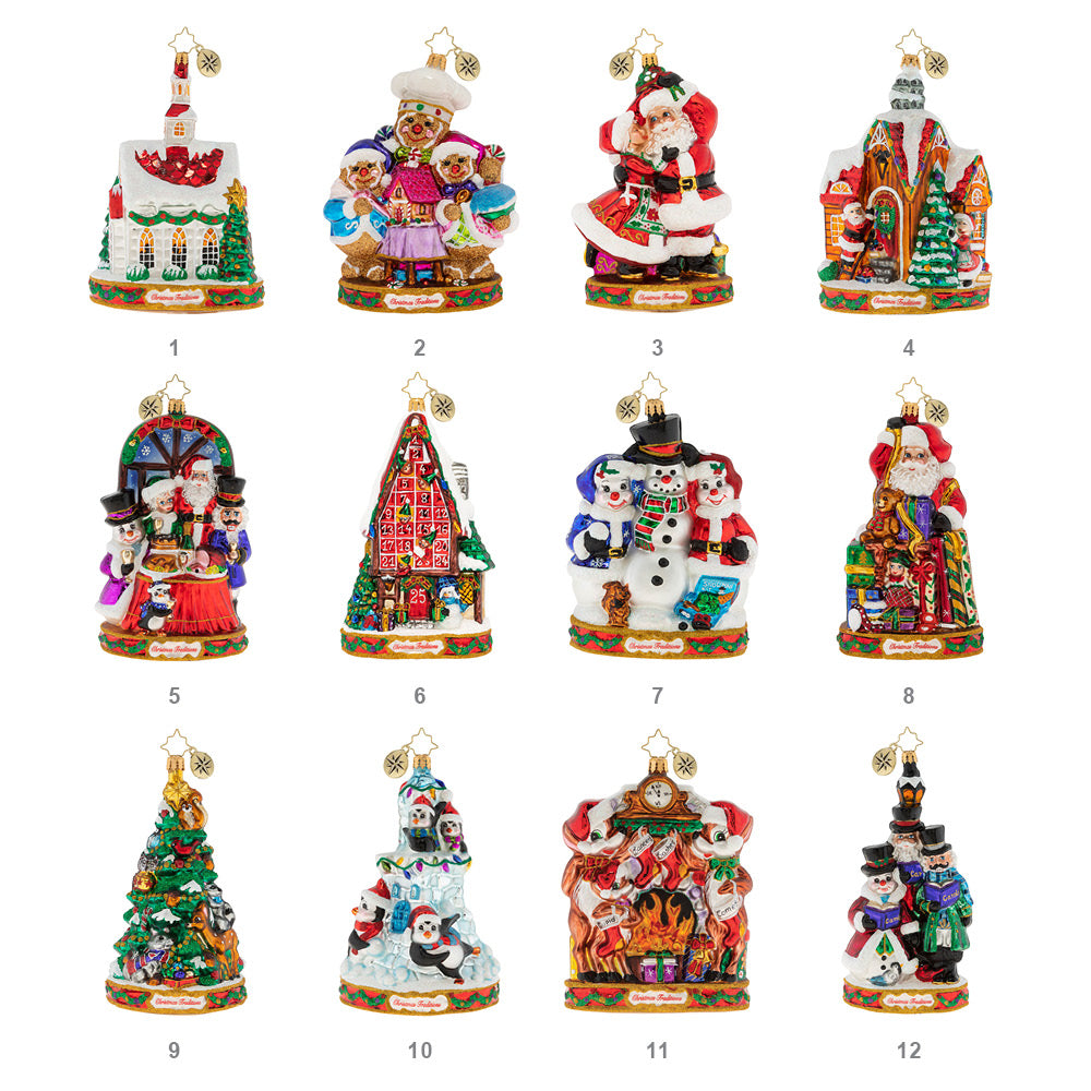 Radko 2019 Ornament of the Month Set of 12 Ornaments