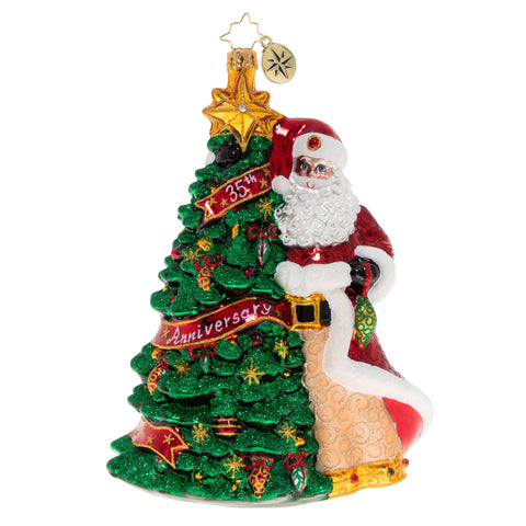 Christopher Radko Cheers To 35 Years! 35th Anniversary Santa ornament