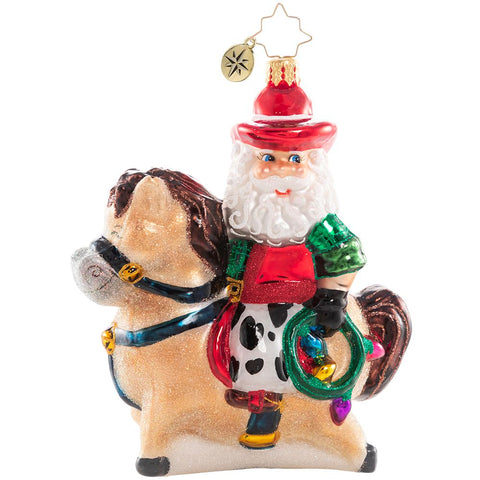 Christopher Radko This Ain't Santa's First Rodeo! Ornament