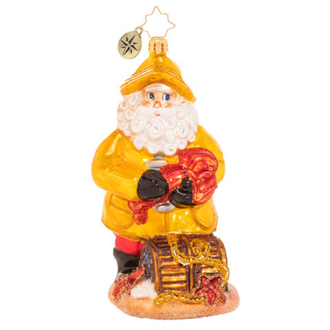Christopher Radko Santa's Claws Red Lobster Ornament