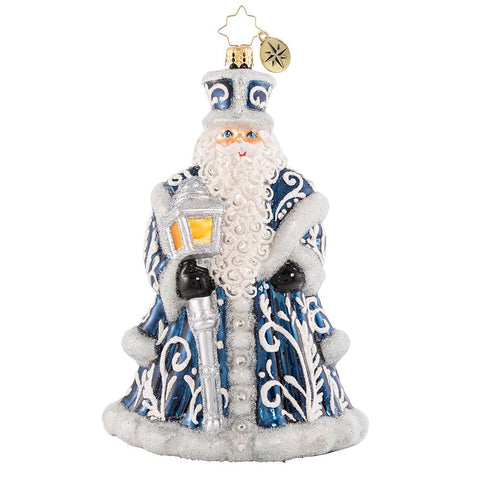 Christopher Radko A Beacon Of Brilliance Santa Father Christmas Ornament